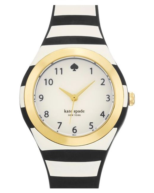 kate spade new york | Black 'rumsey' Plastic Strap Watch | Lyst