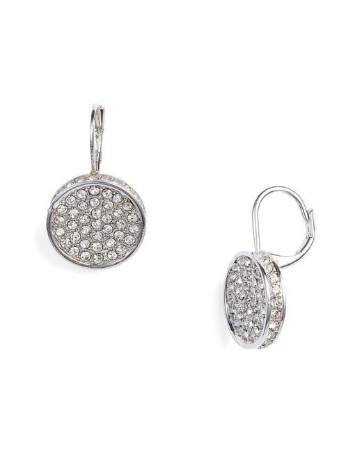 Vince Camuto - Metallic Crystal Glitter Earrings - Lyst