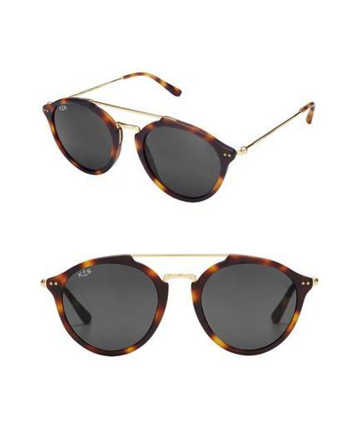 lyst kapten son fitzroy 48mm sunglasses in black. Black Bedroom Furniture Sets. Home Design Ideas