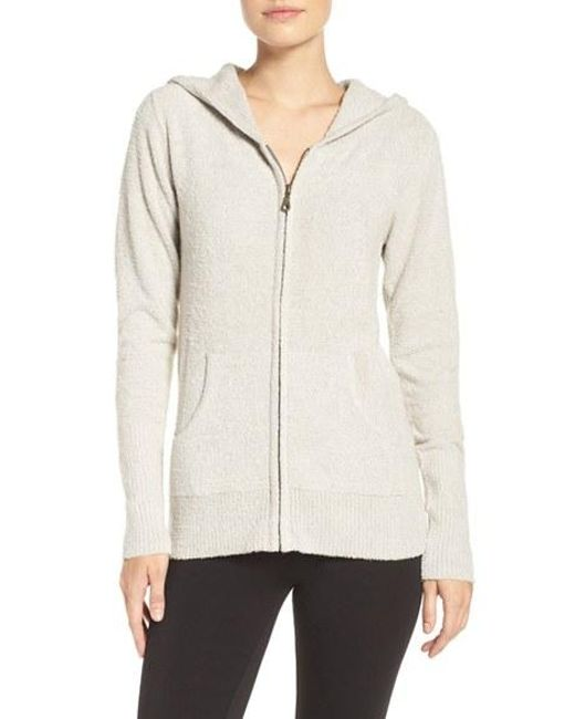 Barefoot Dreams | White 'Bamboo Chic Lite' Front Zip Hoodie | Lyst