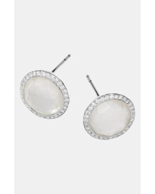 Ippolita | Metallic 'Rock Candy - Stella' Diamond & Stone Stud Earrings | Lyst