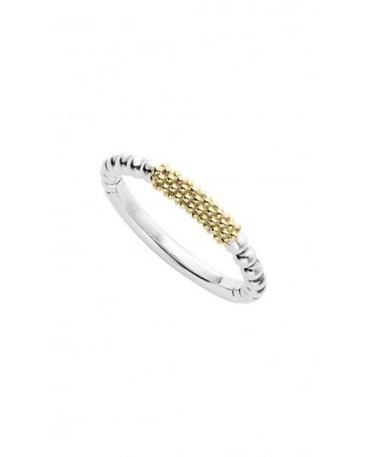 Lagos - Metallic 'caviar Icon' Stacking Ring - Lyst