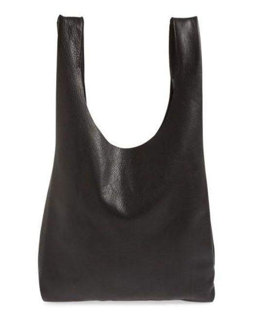Baggu | Black Leather Tote | Lyst