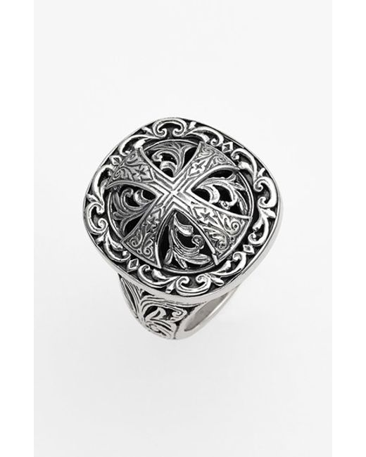 Konstantino | Metallic 'classics' Cross Dome Ring | Lyst