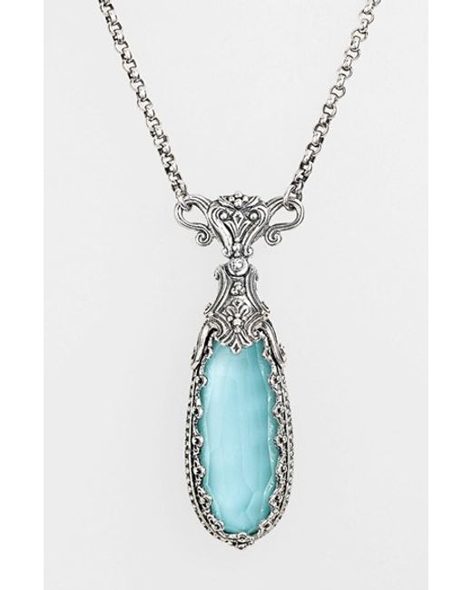 Konstantino | Metallic 'aegean' Teardrop Pendant Necklace | Lyst