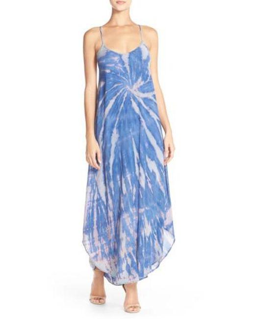 Fraiche By J | Blue Tie-Dye A-Line Maxi Dress | Lyst
