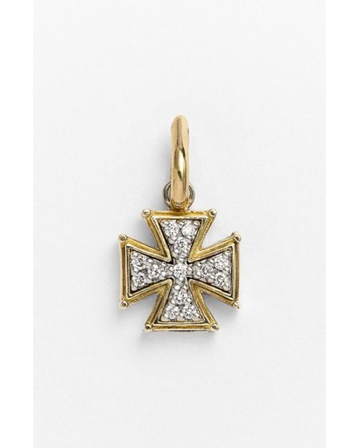 Konstantino | Metallic 'classics' Diamond Cross Charm | Lyst