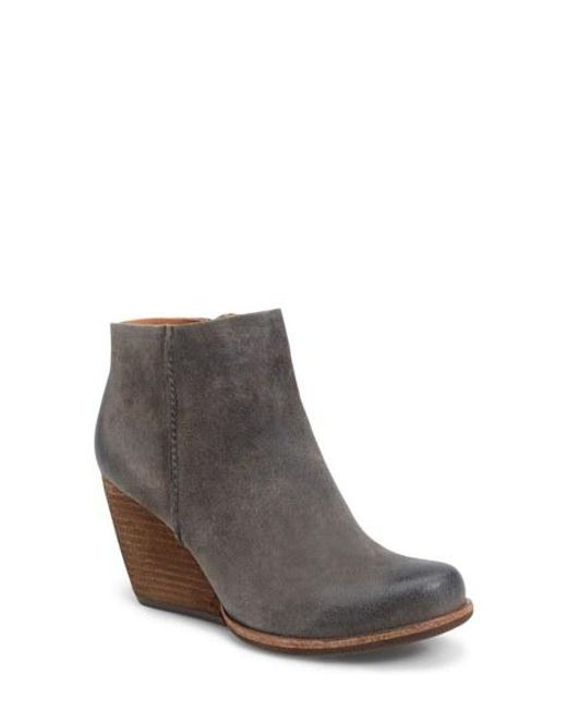 kork ease natalya burnished leather demi wedge boots in