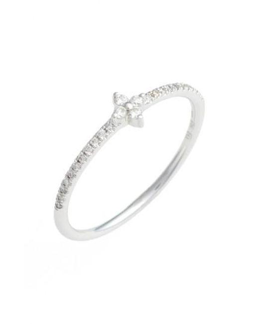 Bony Levy   Metallic Diamond Flower Stack Ring (nordstrom Exclusive)   Lyst