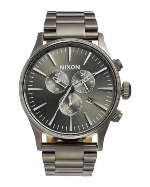Nixon | Metallic 'the Sentry' Chronograph Bracelet Watch for Men | Lyst