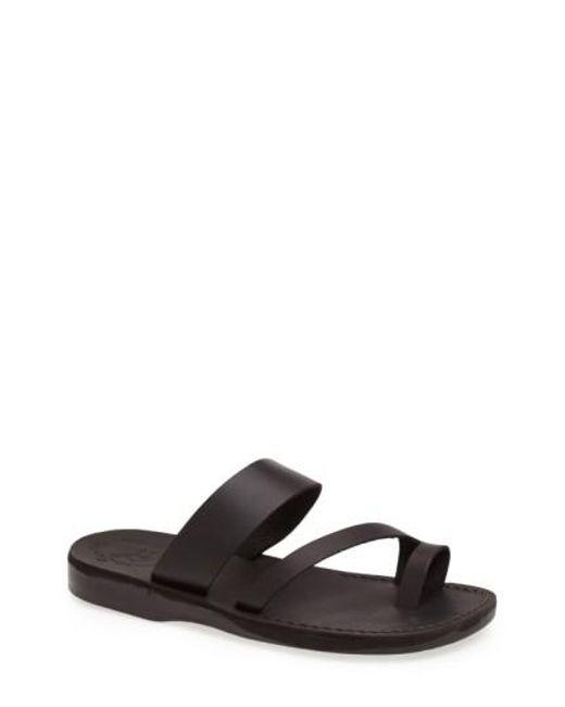 Jerusalem Sandals | Black 'zohar' Leather Sandal for Men | Lyst
