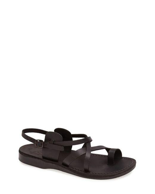 Jerusalem Sandals   Black 'the Good Shepherd' Leather Sandal for Men   Lyst