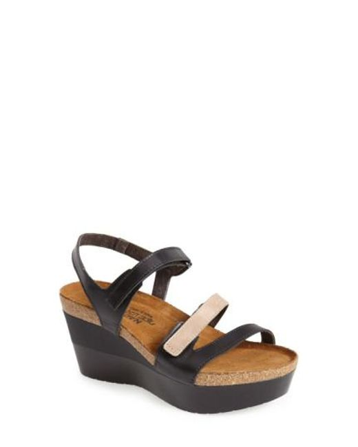 Naot - Black 'canaan' Wedge Sandal - Lyst
