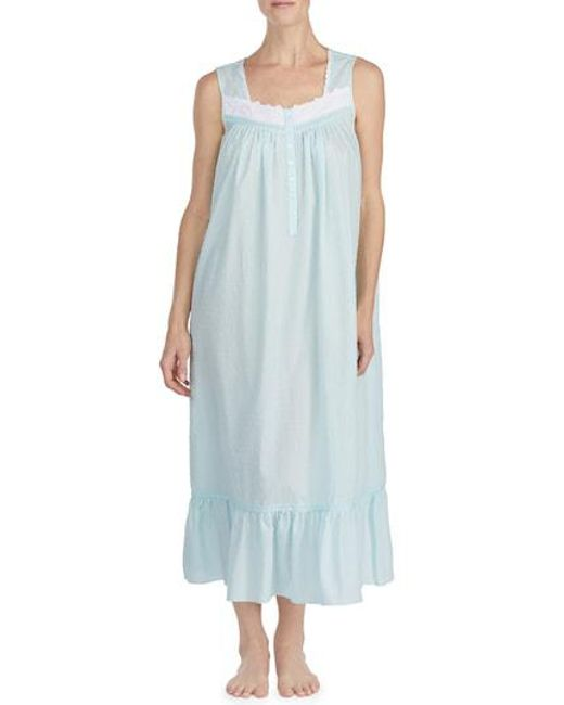a6acf06463 Lyst - Eileen West Ballet Nightgown in Blue