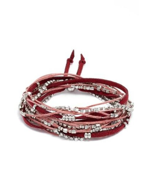 Serefina | Red Convertible Wrap Bracelet | Lyst