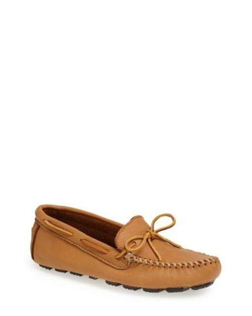 Minnetonka | Natural Moosehide Driving Shoe for Men | Lyst