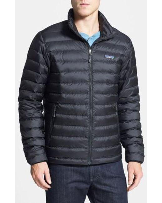 Patagonia | Black Water Repellent Down Jacket for Men | Lyst