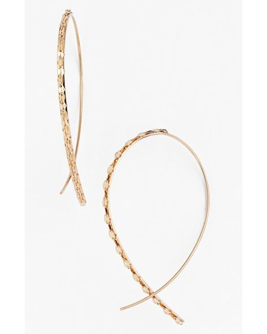 Lana Jewelry | Yellow 'glam' Small Upside Down Hoop Earrings | Lyst