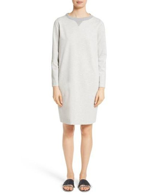 3/4 Length Sweatshirt Dress Fabiana Filippi 6lFzt5se