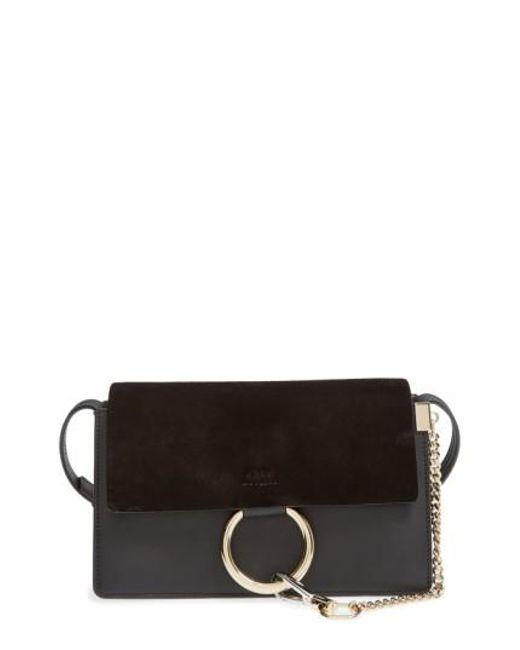 Chloé - Black 'small Faye' Leather Shoulder Bag - Metallic - Lyst