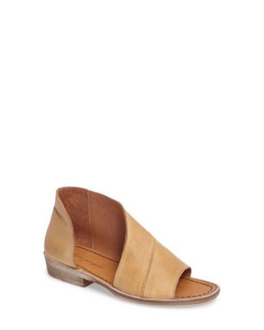 Free People - Brown 'mont Blanc' Asymmetrical Sandal - Lyst