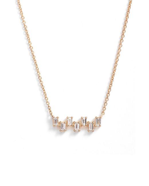 Dana Rebecca - Metallic Sadie Diamond Bar Pendant Necklace - Lyst