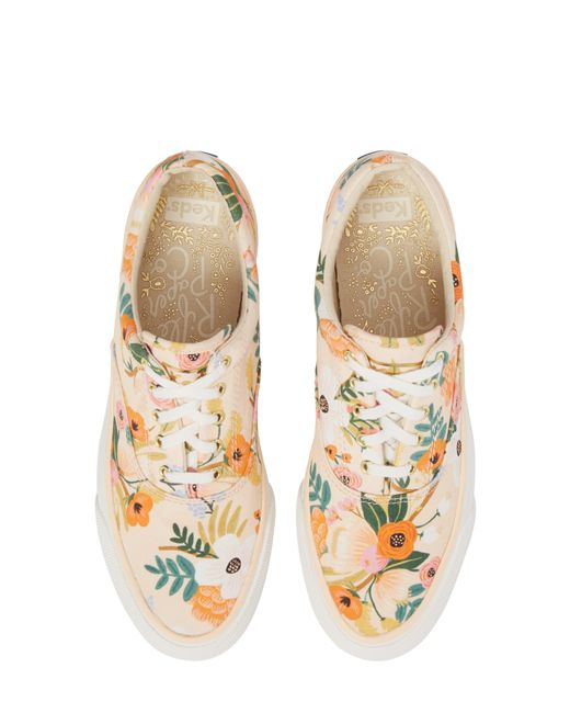 Keds Pink Keds X Rifle Paper Co. Anchor Lively Floral Slip-on Sneaker