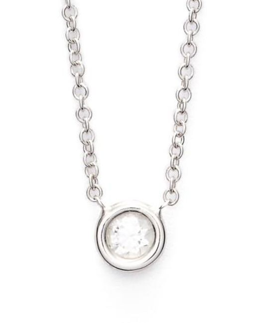 Bony Levy | White Small Diamond Solitaire Pendant Necklace (limited Edition) (nordstrom Exclusive) | Lyst