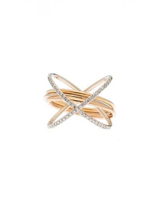 Charlotte Chesnais - Metallic Xxo Diamond Ring - Lyst