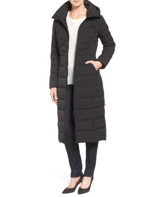 Bernardo | Black Quilted Long Coat With Down & Primaloft(r) Fill | Lyst