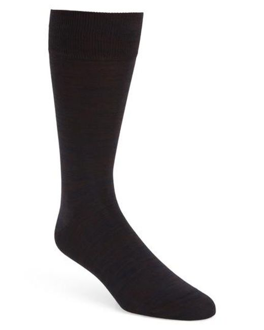 Bugatchi - Brown Solid Socks for Men - Lyst