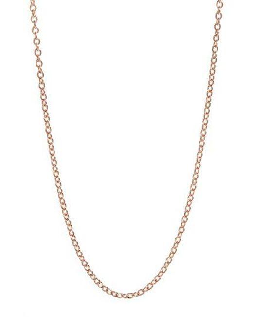 Monica Vinader | Metallic 32 Inch Adjustable Rolo Chain | Lyst