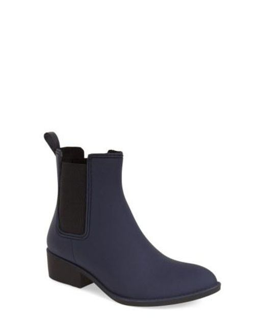Jeffrey Campbell - Blue 'stormy' Rain Boot - Lyst