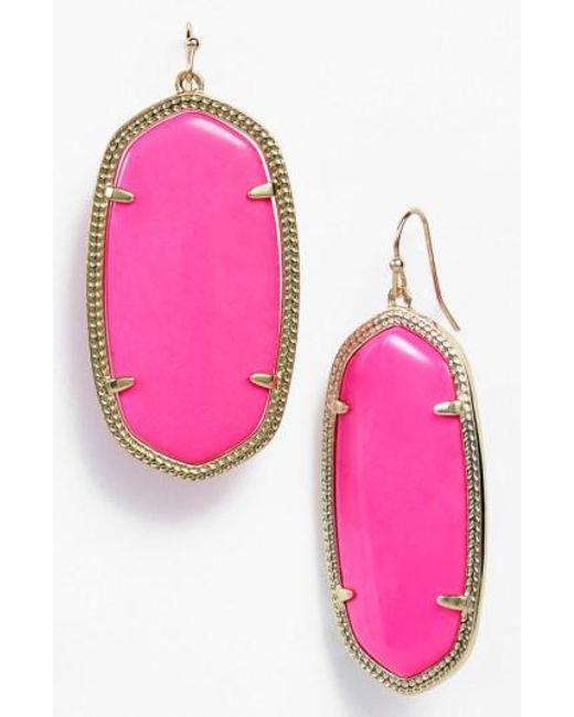 Kendra Scott   Purple Danielle - Large Oval Statement Earrings   Lyst