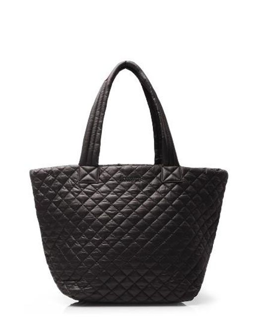 MZ Wallace   Black 'medium Metro' Quilted Oxford Nylon Tote   Lyst