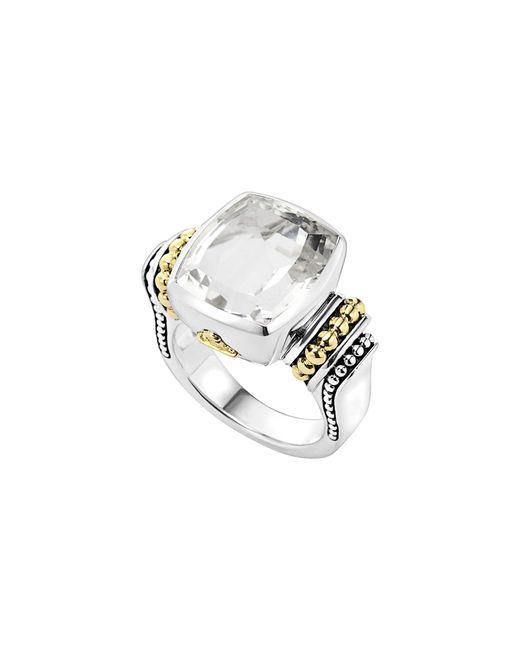 Lagos - White 'caviar Color' Medium Semiprecious Stone Ring - Lyst