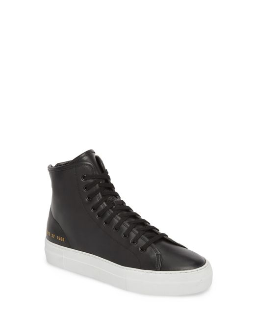 Common Projects - Black Tournament High Super Sneaker - Lyst