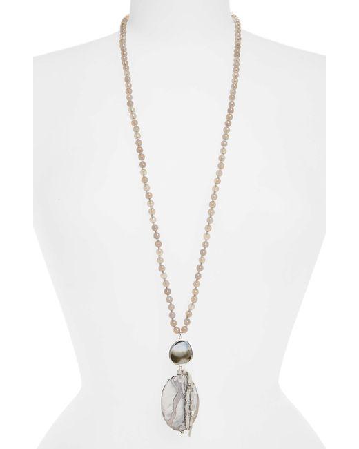 Chan Luu - Gray Grey Statement Necklace - Lyst