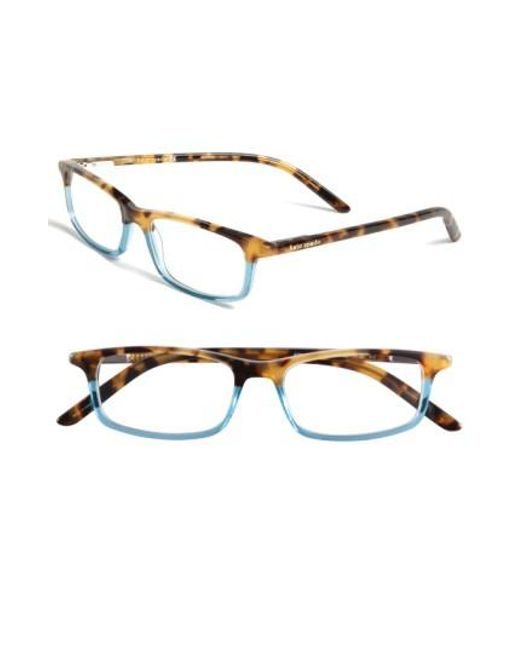 Kate Spade - Blue Jodie 50mm Reading Glasses - Havana Teal - Lyst