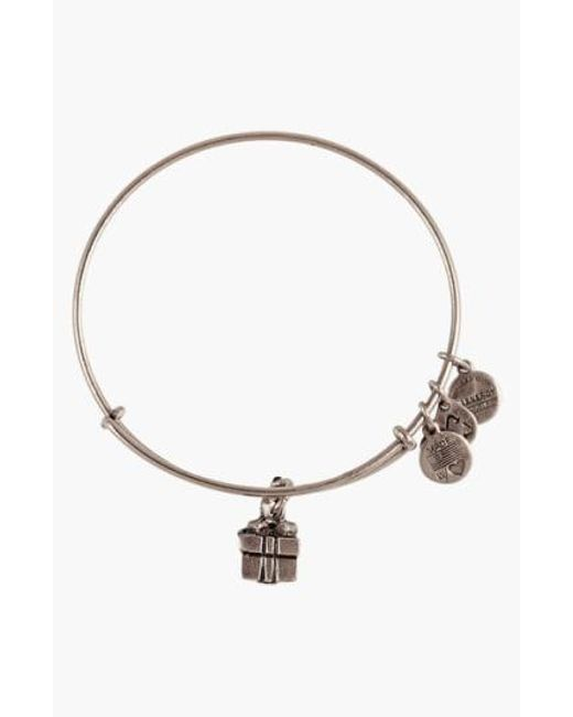 ALEX AND ANI - Metallic 'charity By Design - Gift Box' Expandable Wire Bangle - Lyst