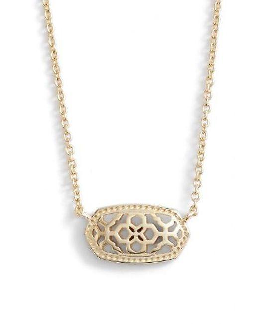 Kendra Scott | Metallic Elisa Openwork Pendant Necklace | Lyst