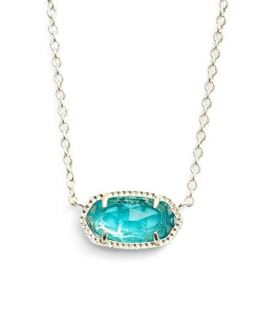 Kendra Scott | Blue Elisa Birthstone Pendant Necklace | Lyst