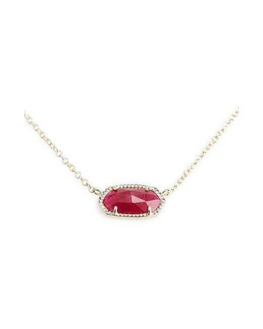 Kendra Scott | Red Elisa Pendant Necklace | Lyst
