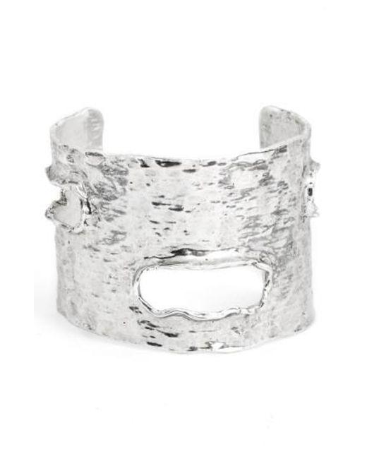 Karine Sultan | Metallic Textured Cuff | Lyst