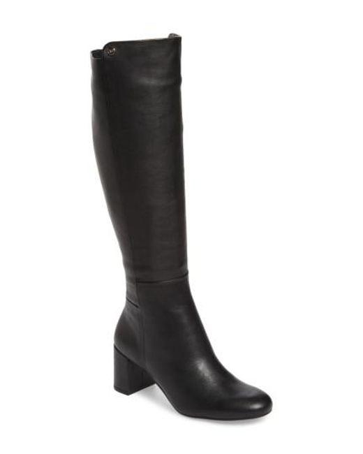 Taryn Rose - Black Carolyn Tall Boot - Lyst