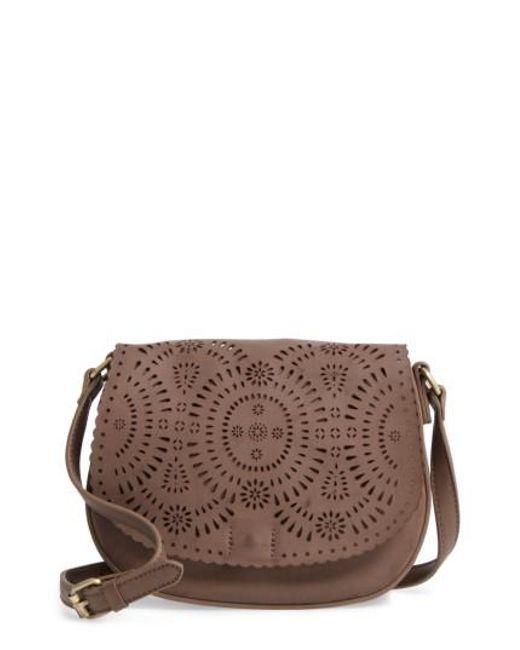 Shiraleah | Gray Dakota Faux Leather Saddle Bag | Lyst