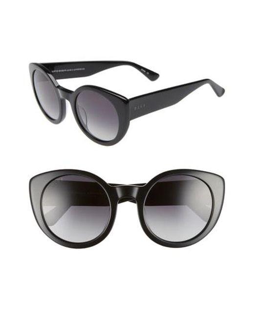 DIFF - Black Luna 54mm Polarized Round Sunglasses - - Lyst