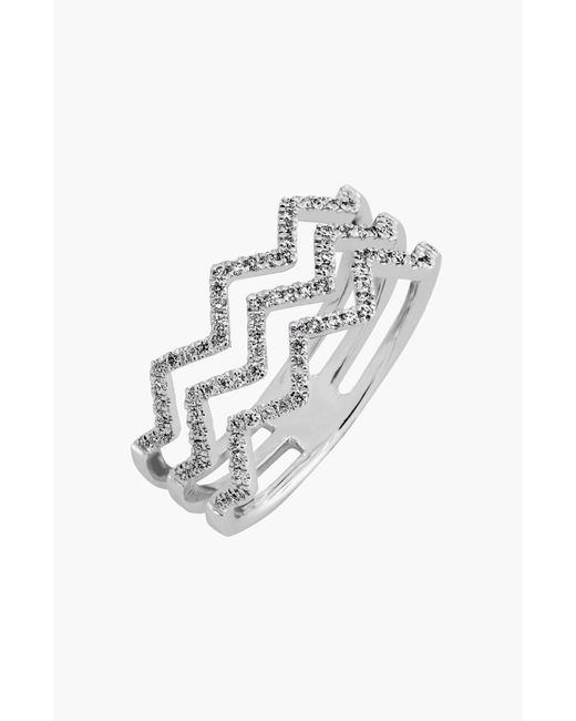 Bony Levy Metallic Prism 3-row Diamond Ring (limited Edition) (nordstrom Exclusive)