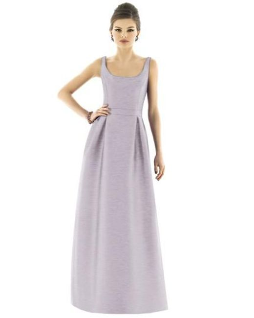 Alfred Sung | Purple Dupioni Scoop-Neck Gown | Lyst