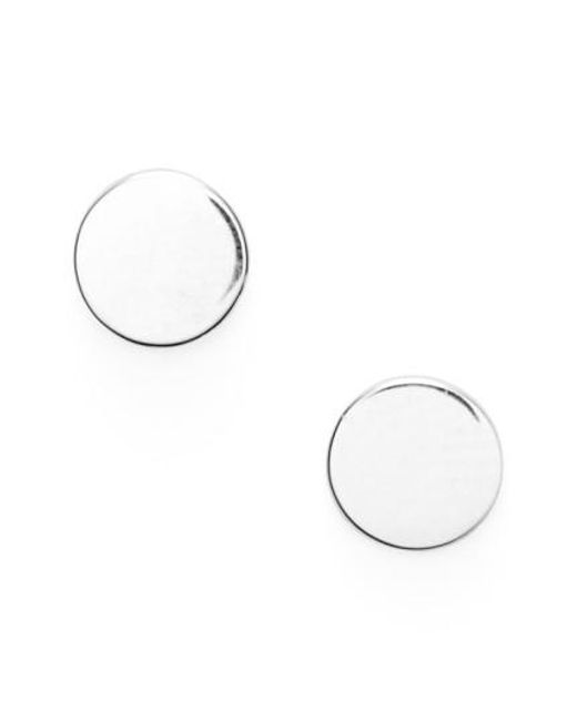 Bony Levy - White Circle Stud Earrings (nordstrom Exclusive) - Lyst